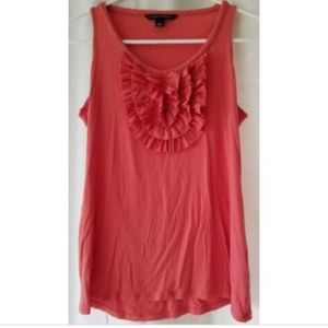 Banana Republic small pink coral ruffle tank top